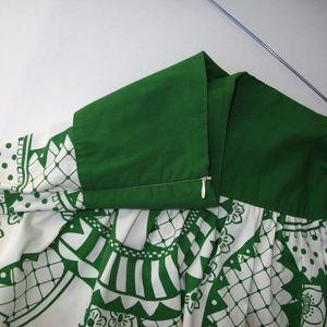 Renee C. Skirts - Renee C. Green & White Hawaiian Inspired Skirt L